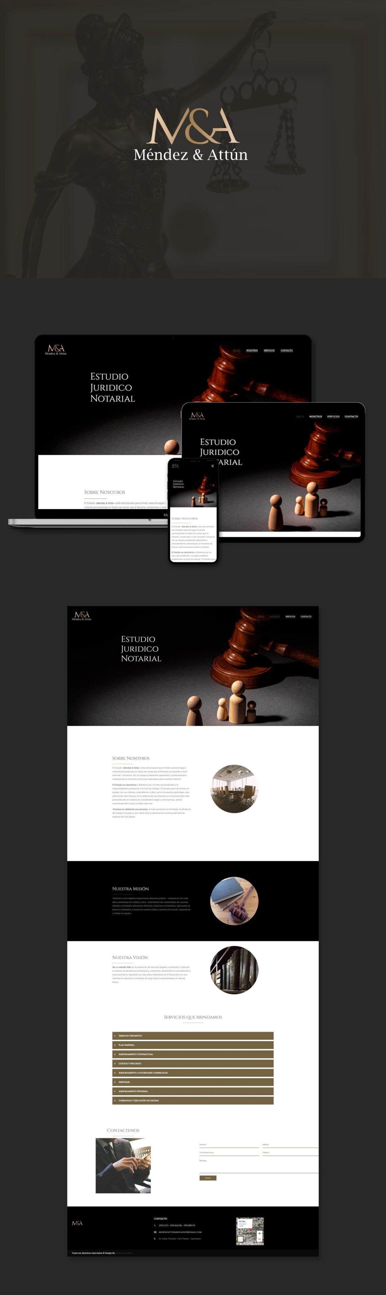 Diseño de pagina web mendes & Attun