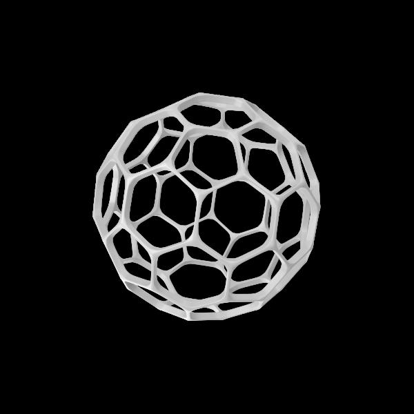 Hexagon Sphere Decoration.C07.2k